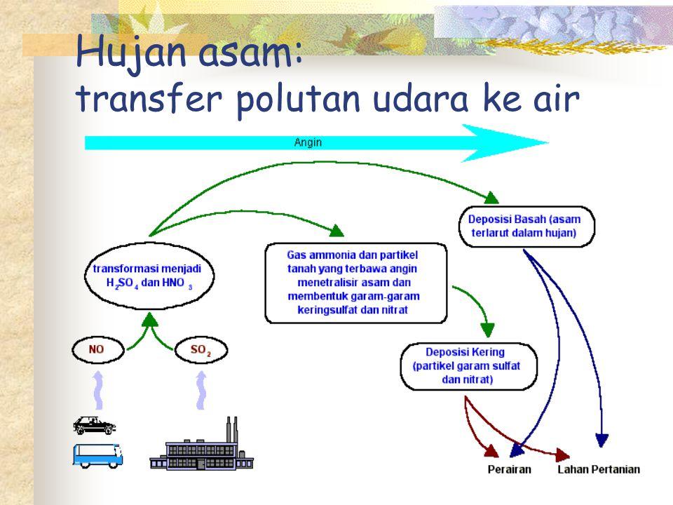 Hujan asam: transfer polutan udara ke air