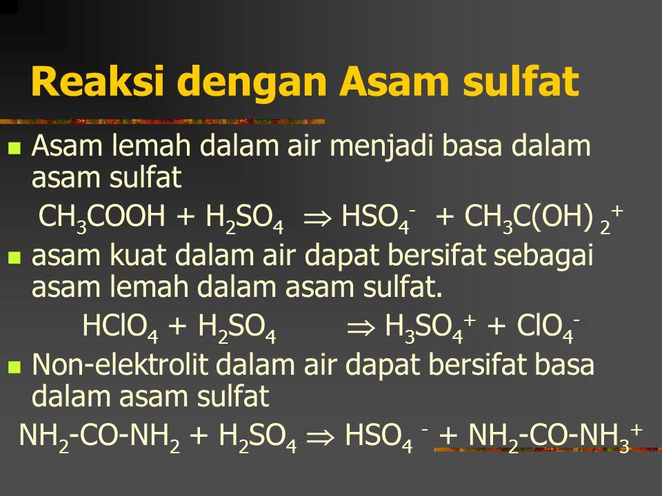 Reaksi dengan Asam sulfat
