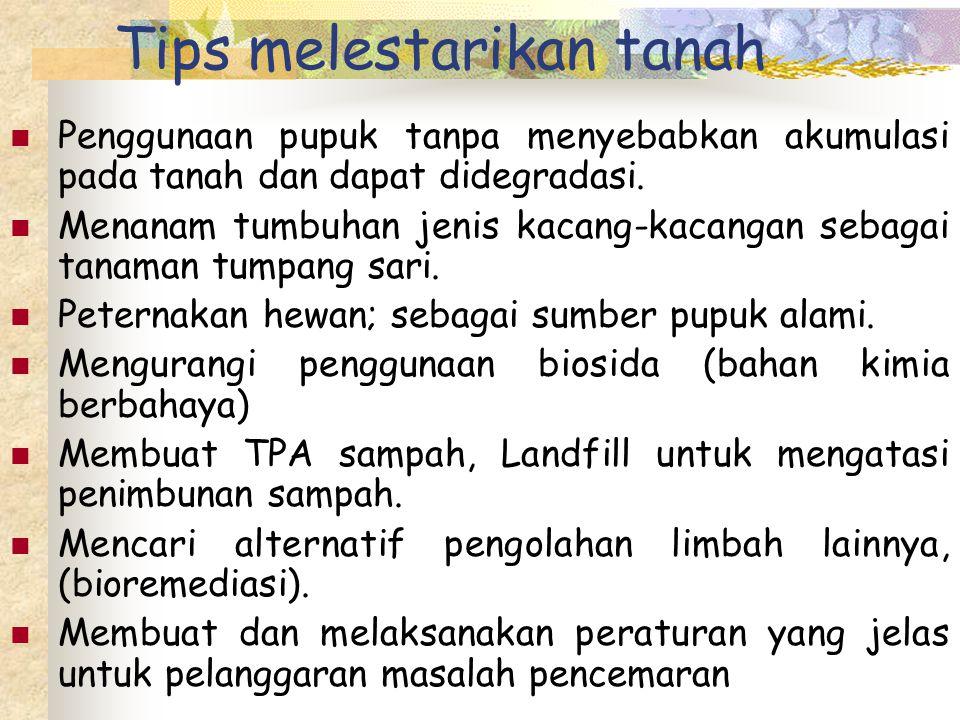 Tips melestarikan tanah