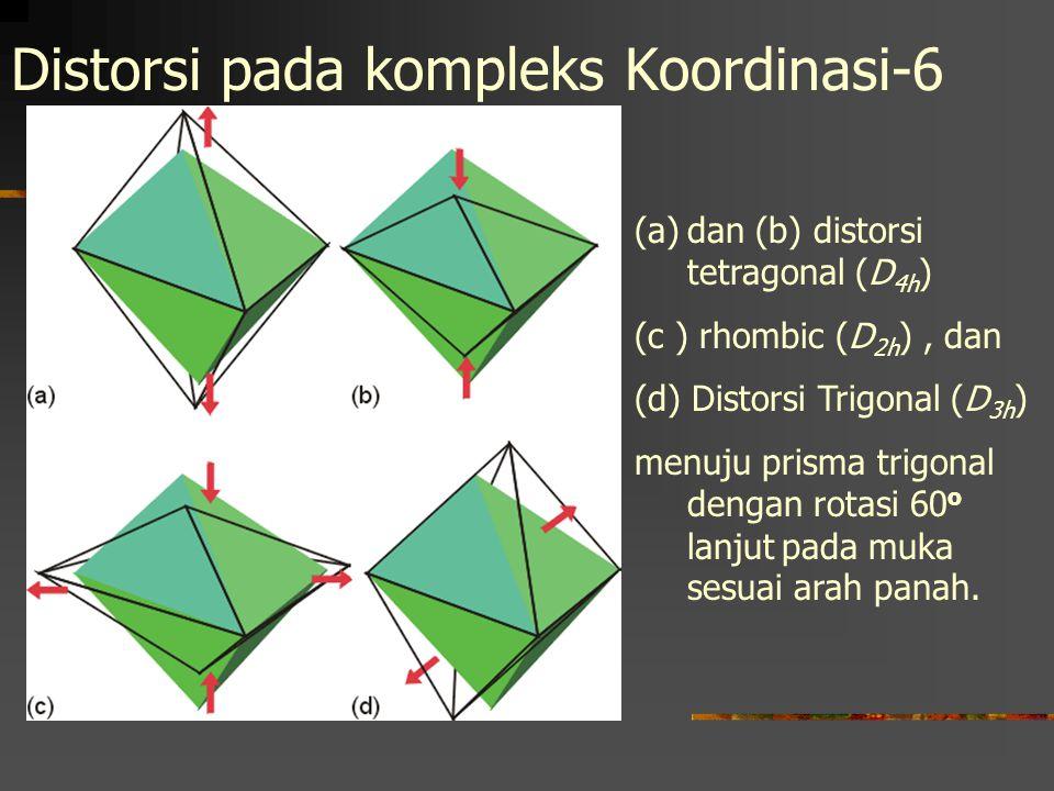 Distorsi pada kompleks Koordinasi-6