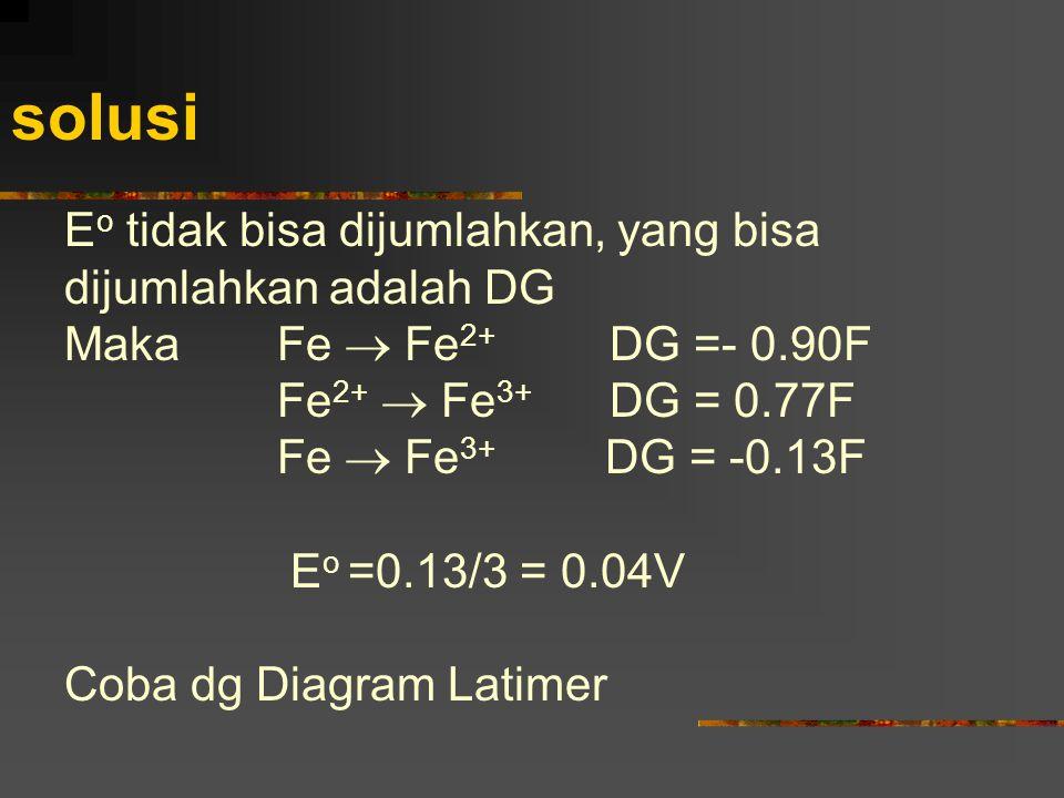 solusi Eo tidak bisa dijumlahkan, yang bisa dijumlahkan adalah DG