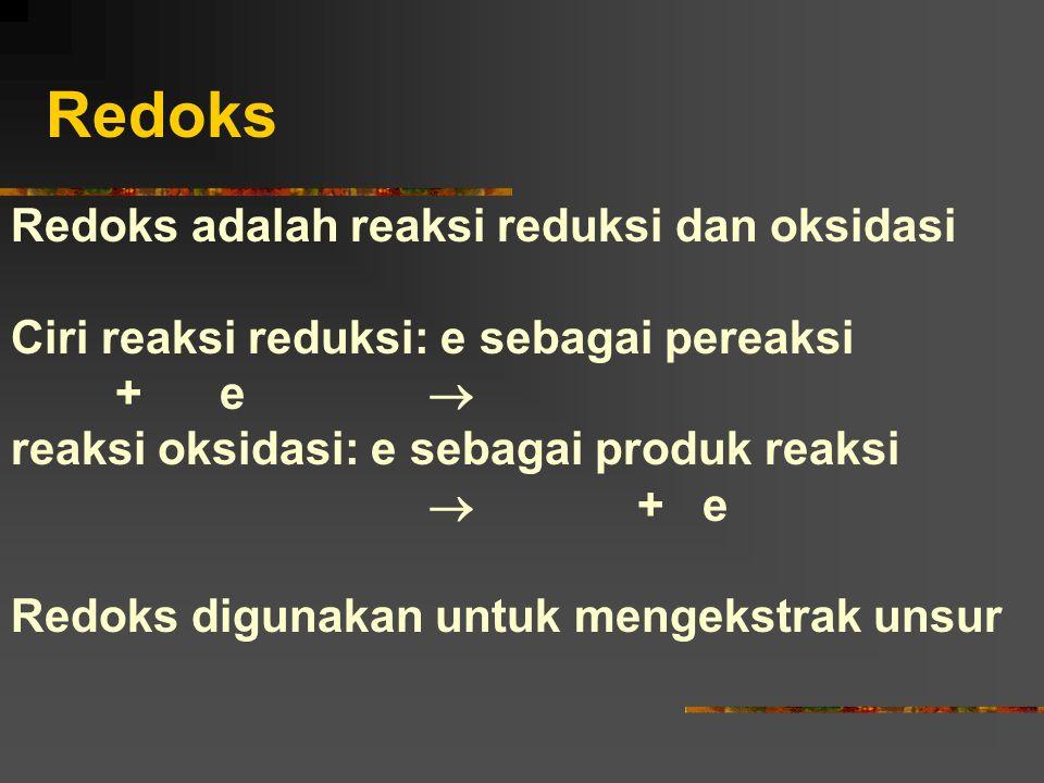 Redoks Redoks adalah reaksi reduksi dan oksidasi