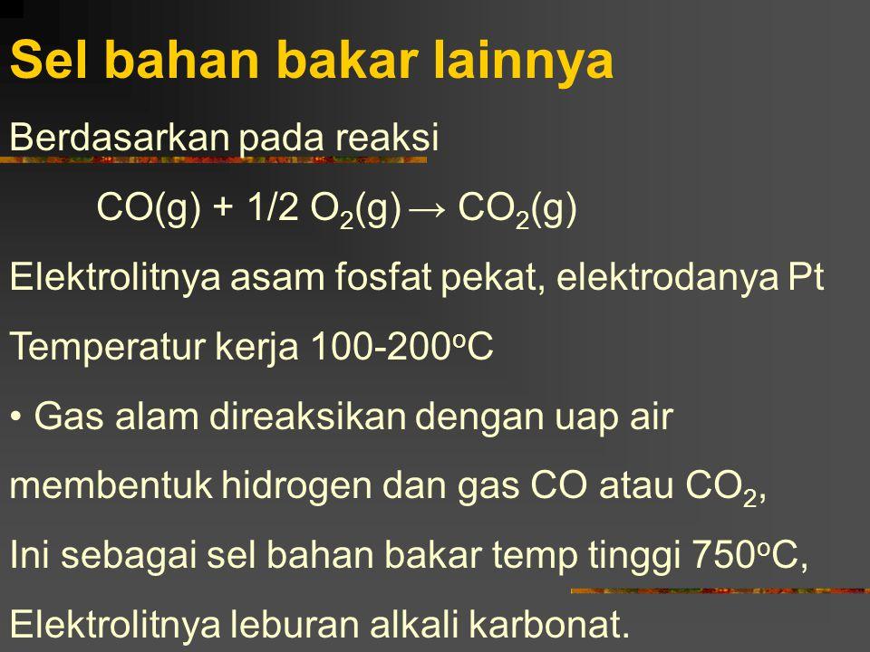 Sel bahan bakar lainnya