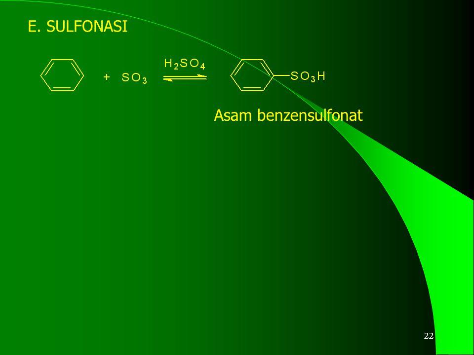 E. SULFONASI Asam benzensulfonat