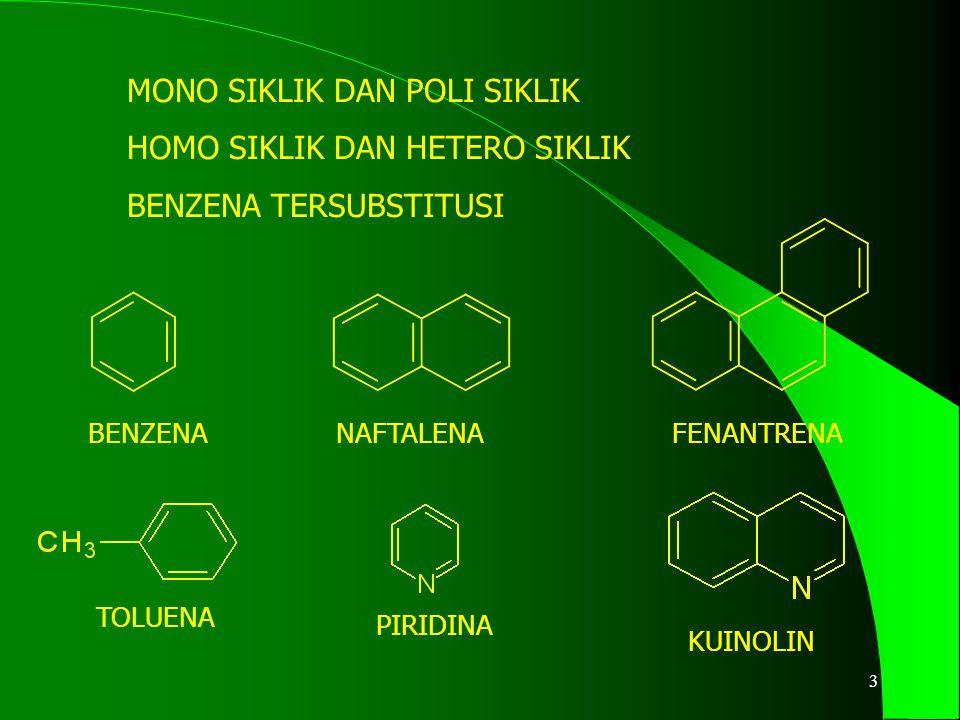 BENZENA NAFTALENA FENANTRENA TOLUENA PIRIDINA KUINOLIN