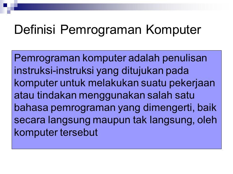 Definisi Pemrograman Komputer