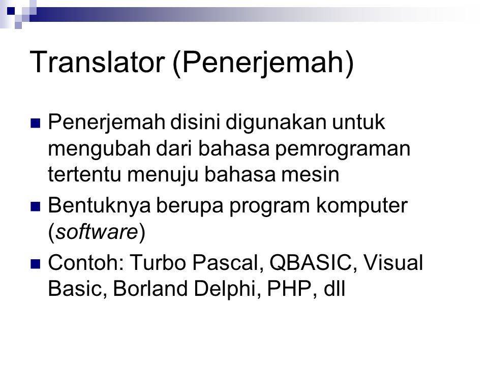 Translator (Penerjemah)