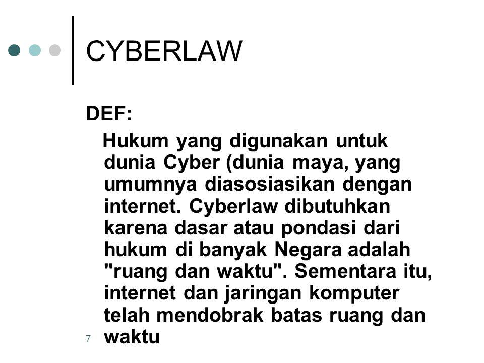 CYBERLAW DEF: