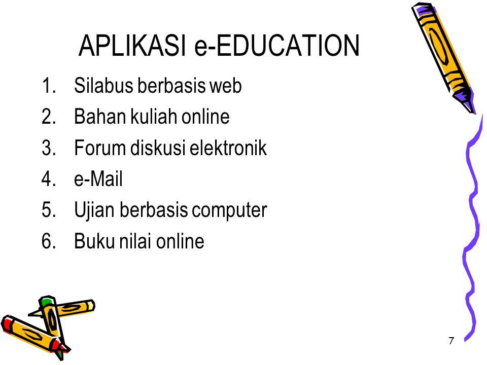 APLIKASI e-EDUCATION Silabus berbasis web Bahan kuliah online