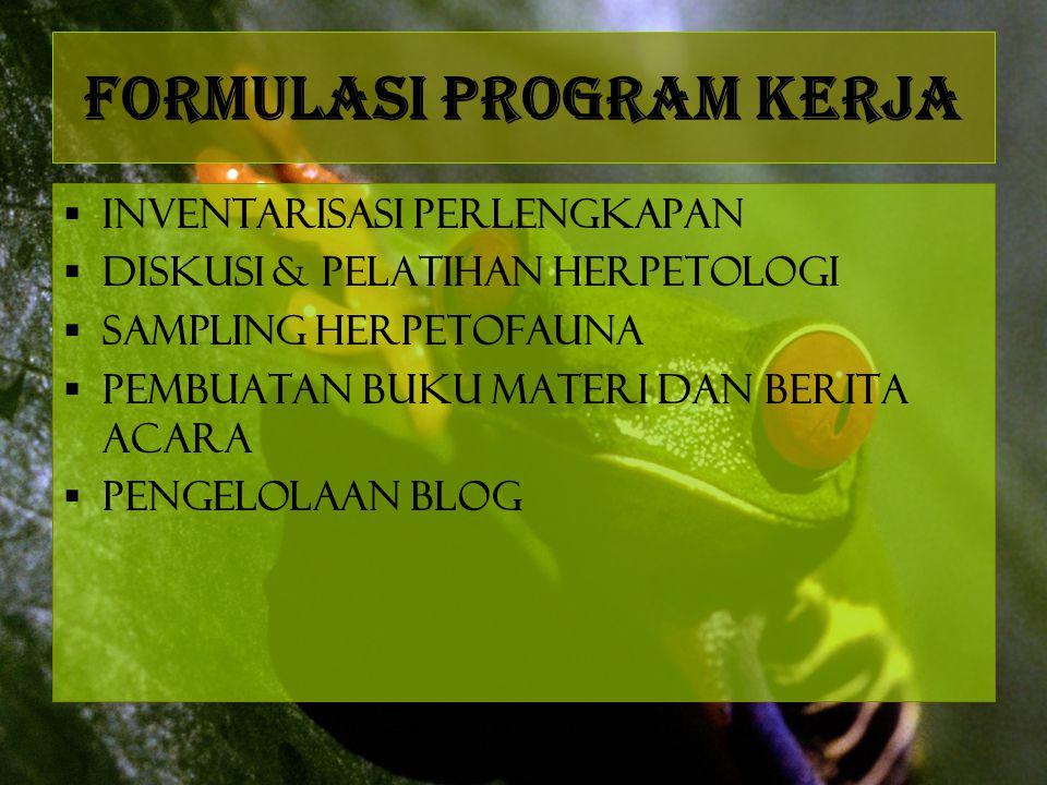 Formulasi Program Kerja
