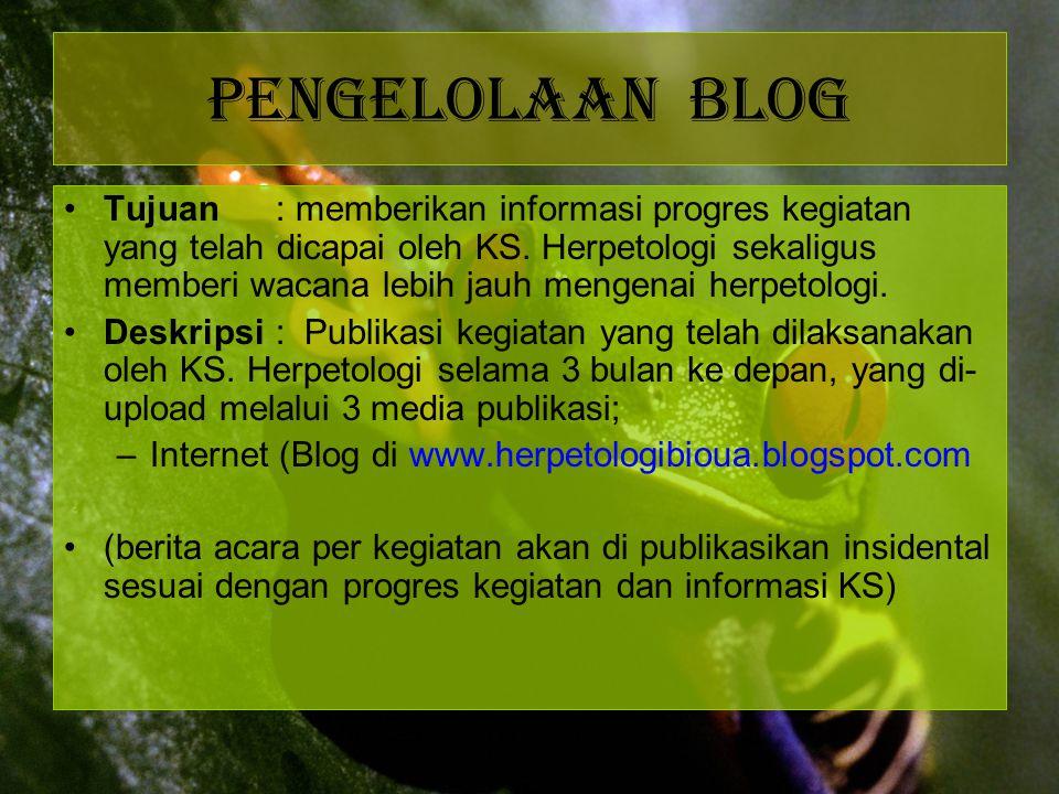 Pengelolaan blog