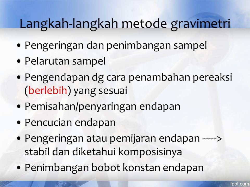 Langkah-langkah metode gravimetri