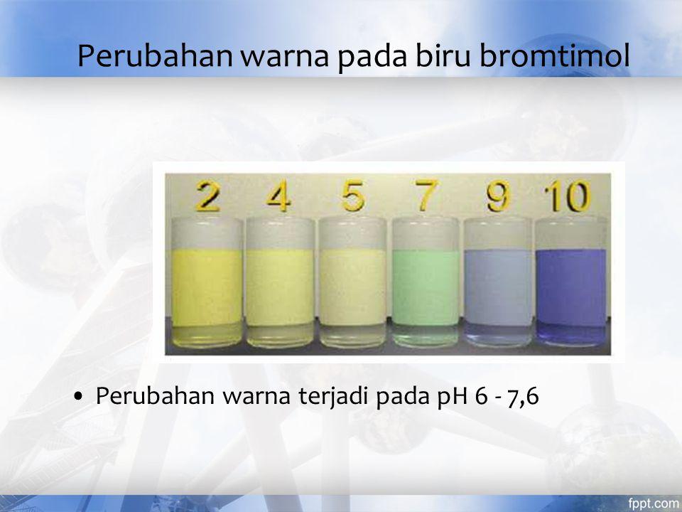 Perubahan warna pada biru bromtimol