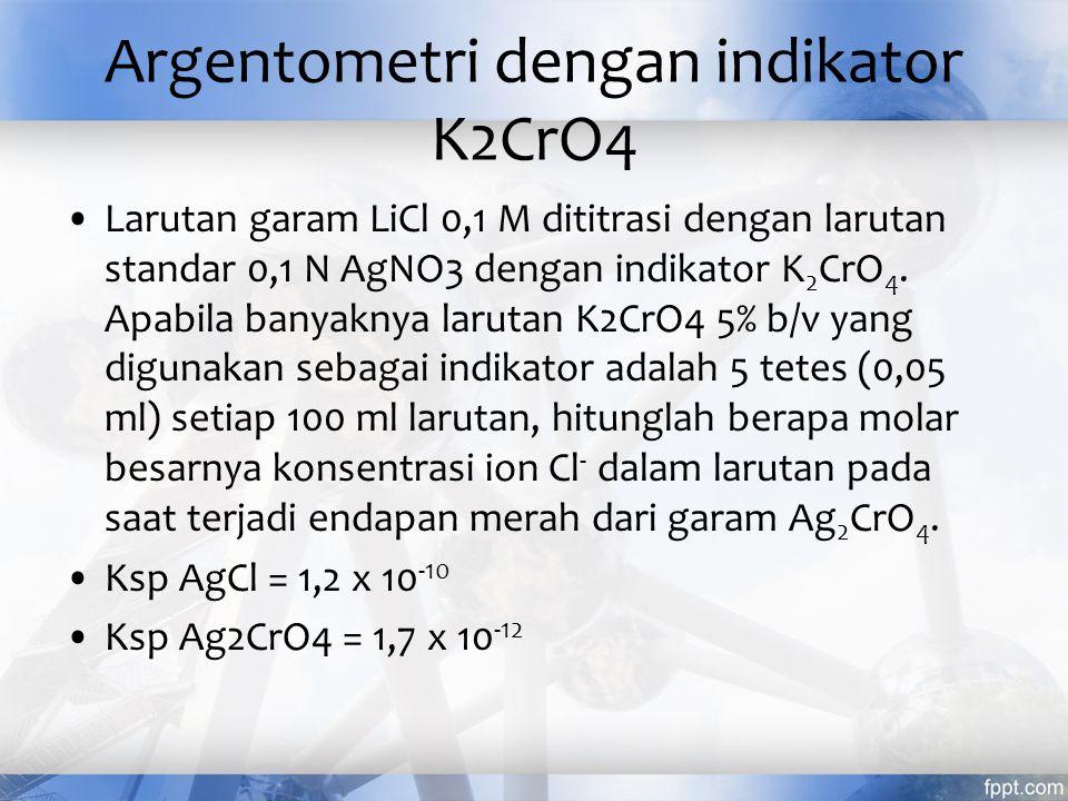 Argentometri dengan indikator K2CrO4