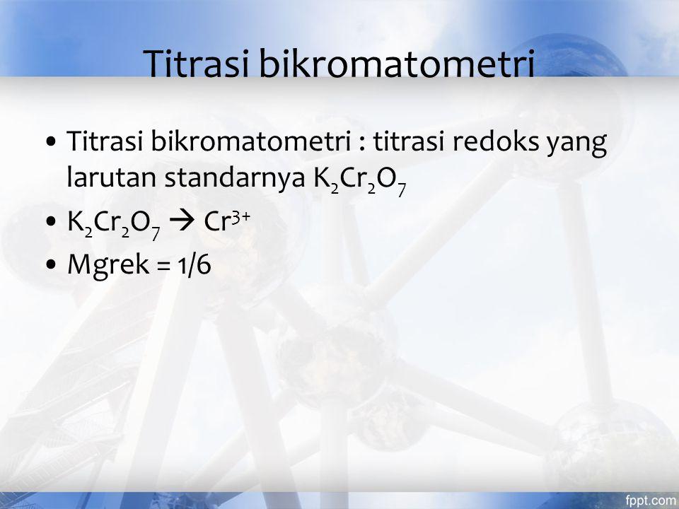 Titrasi bikromatometri