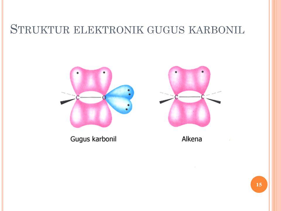 Struktur elektronik gugus karbonil