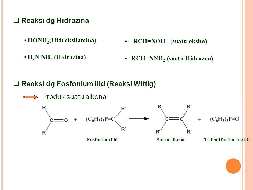 Reaksi dg Fosfonium ilid (Reaksi Wittig)