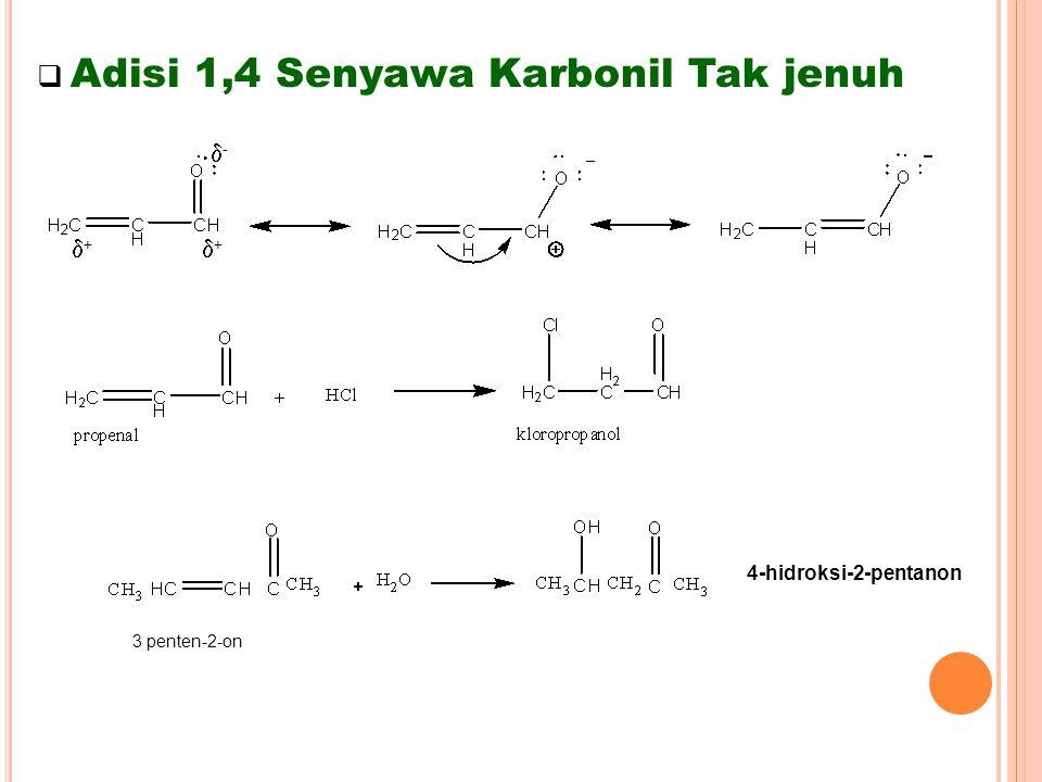 Adisi 1,4 Senyawa Karbonil Tak jenuh