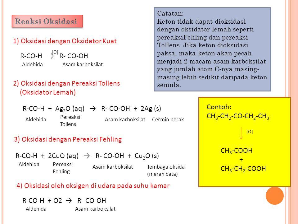 1) Oksidasi dengan Oksidator Kuat