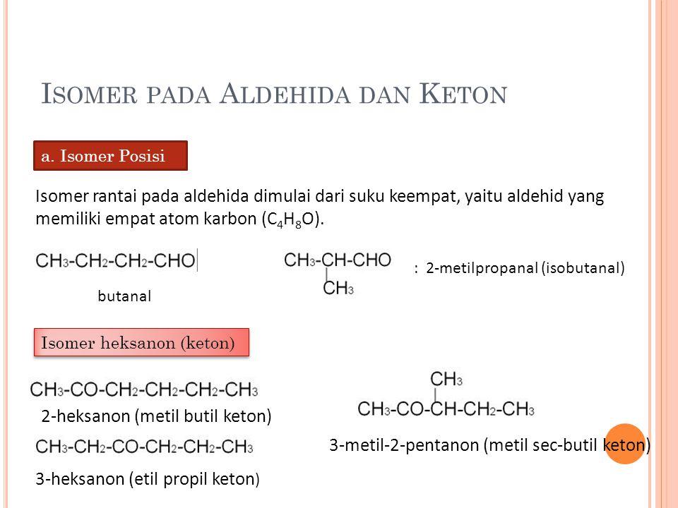 Isomer pada Aldehida dan Keton