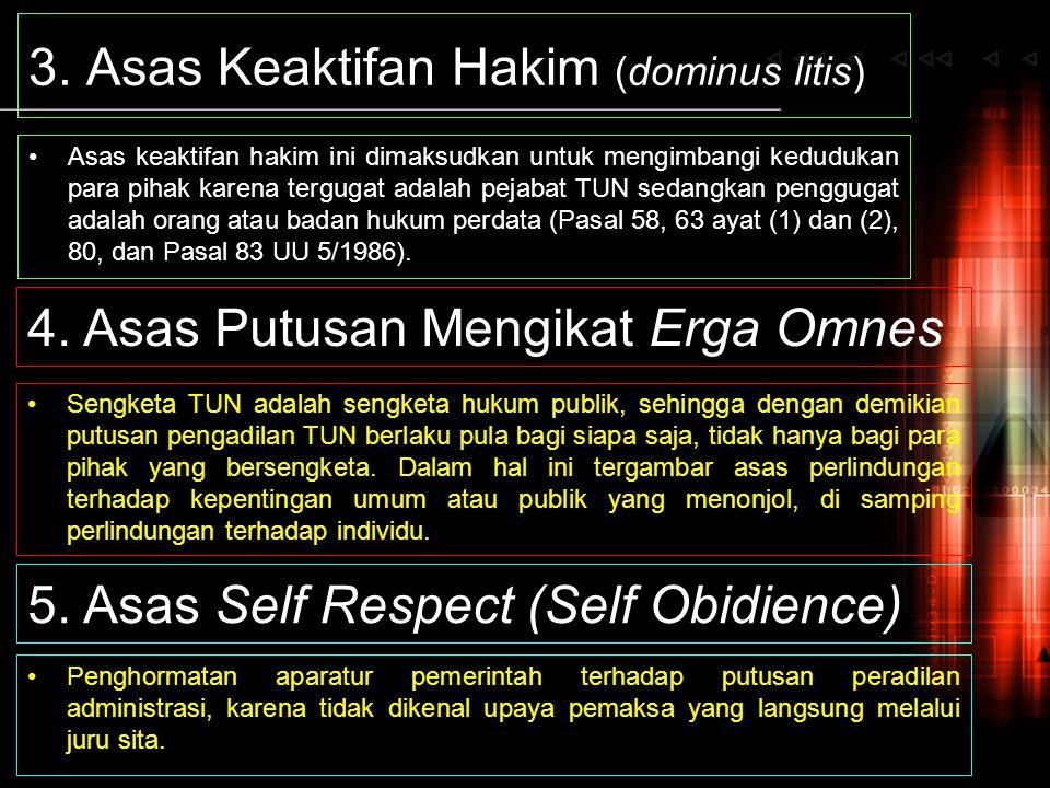 3. Asas Keaktifan Hakim (dominus litis)
