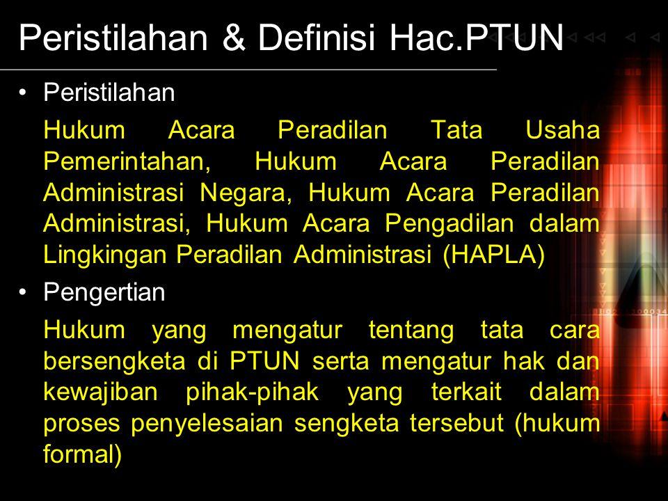 Peristilahan & Definisi Hac.PTUN