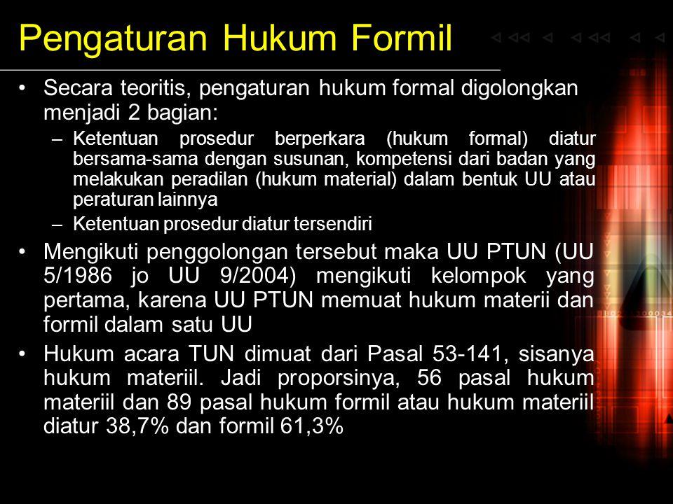 Pengaturan Hukum Formil