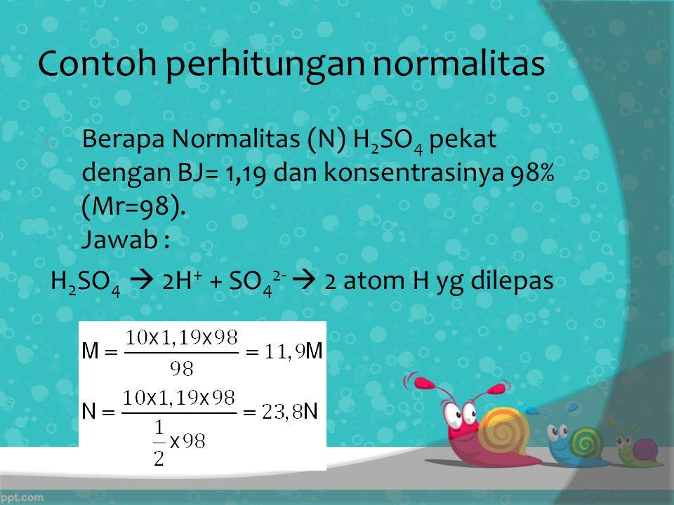 Contoh perhitungan normalitas