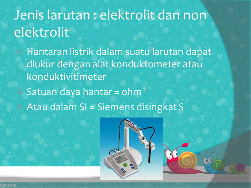 Jenis larutan : elektrolit dan non elektrolit