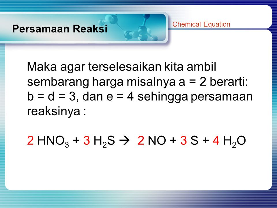 Persamaan Reaksi Chemical Equation.