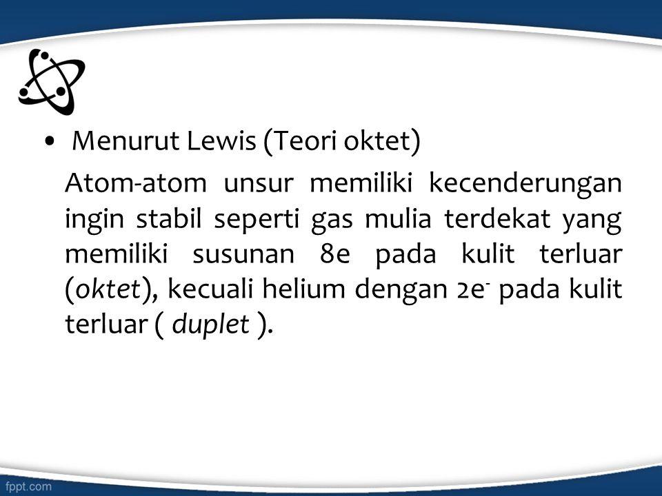 Menurut Lewis (Teori oktet)