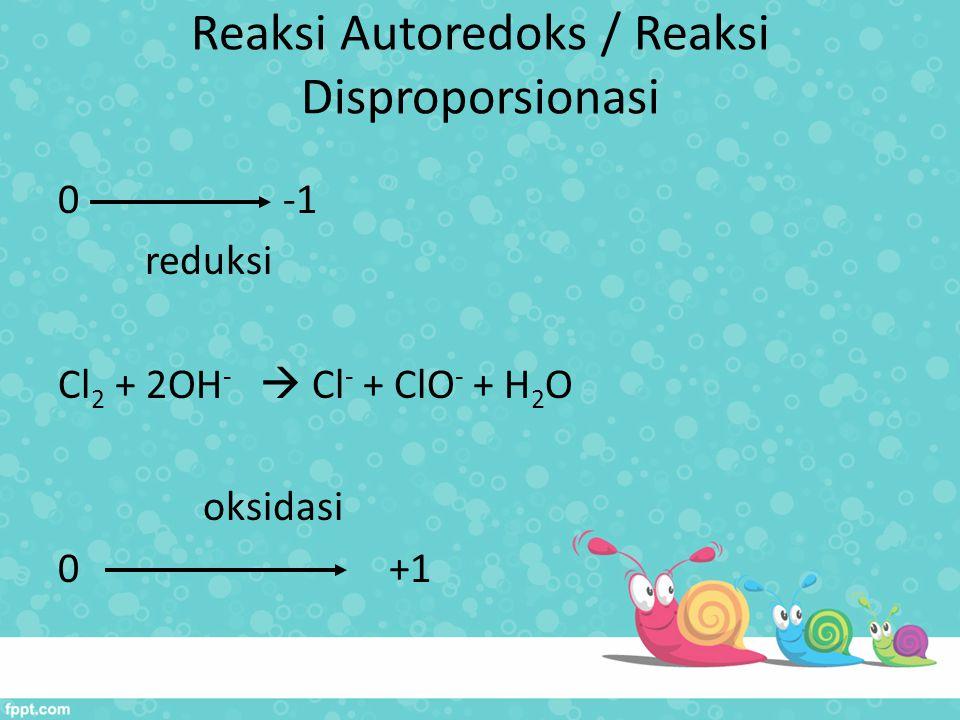 Reaksi Autoredoks / Reaksi Disproporsionasi