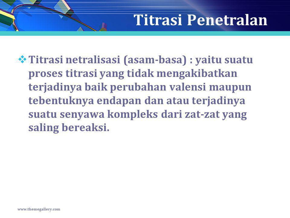 Titrasi Penetralan