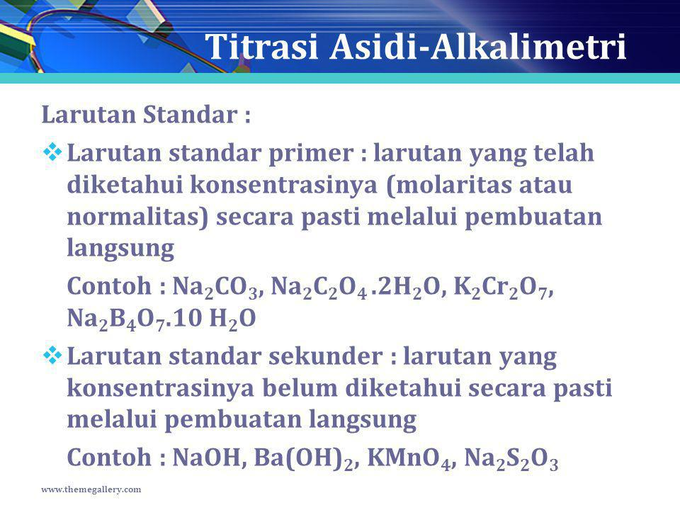 Titrasi Asidi-Alkalimetri