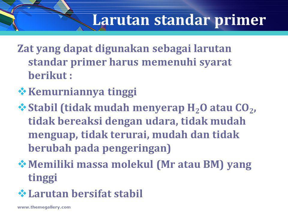 Larutan standar primer