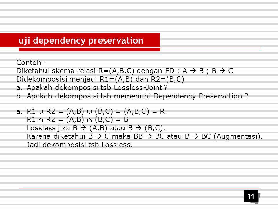uji dependency preservation