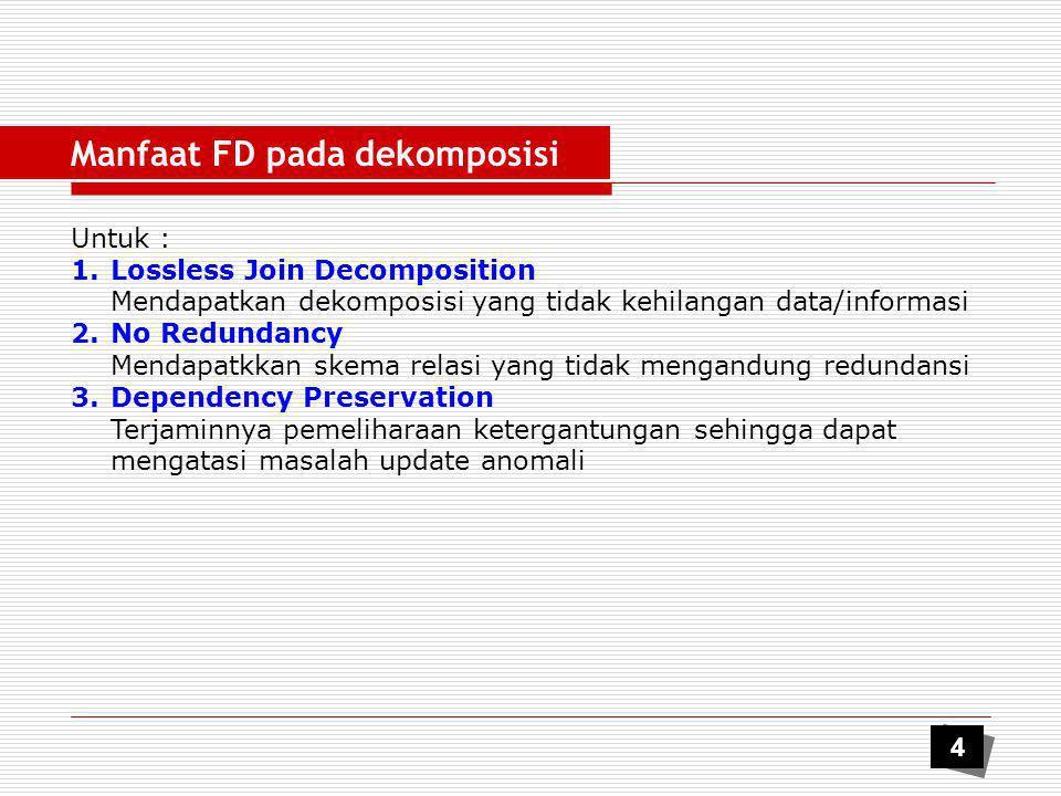 Manfaat FD pada dekomposisi