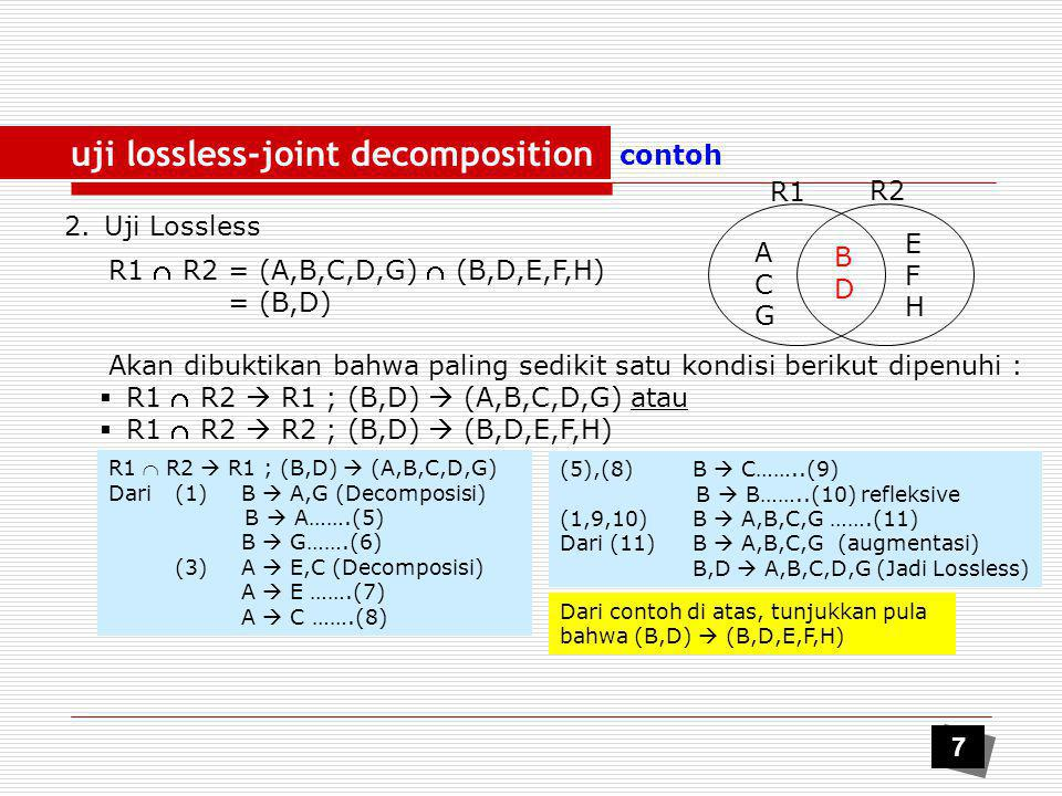 uji lossless-joint decomposition
