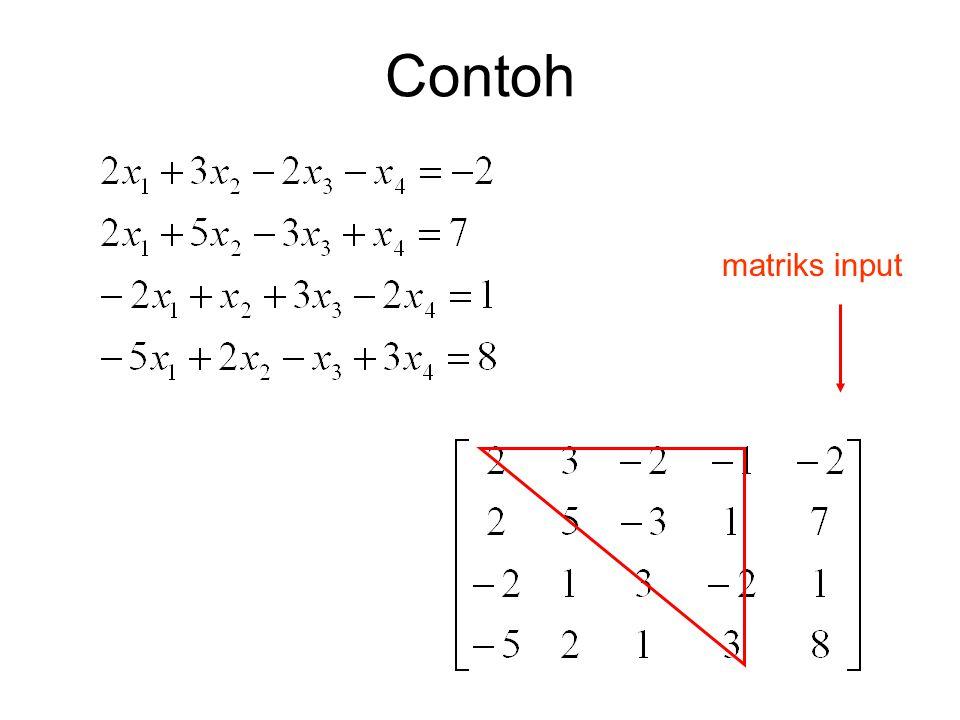 Contoh matriks input