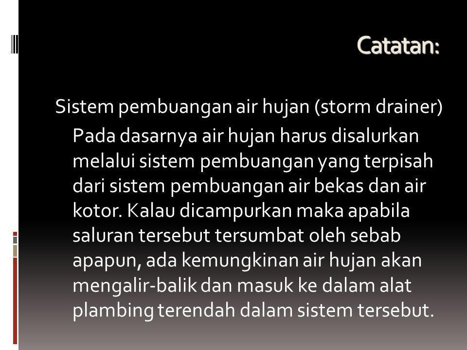 Catatan: Sistem pembuangan air hujan (storm drainer)
