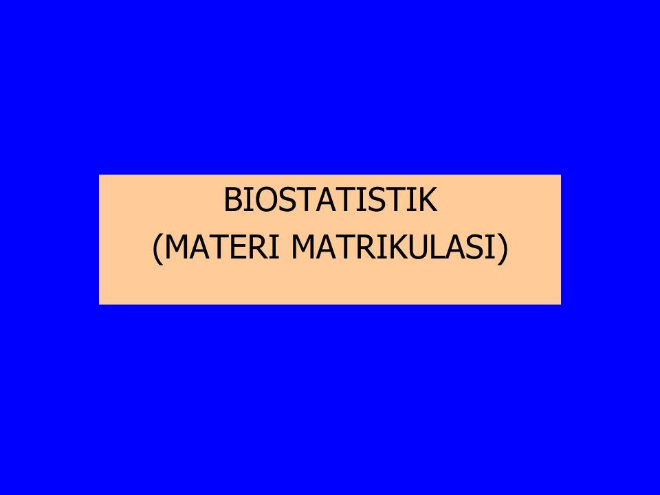 BIOSTATISTIK (MATERI MATRIKULASI)