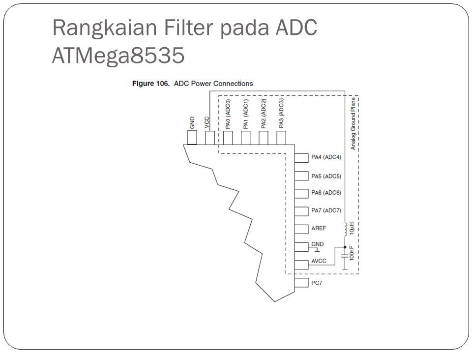 Rangkaian Filter pada ADC ATMega8535
