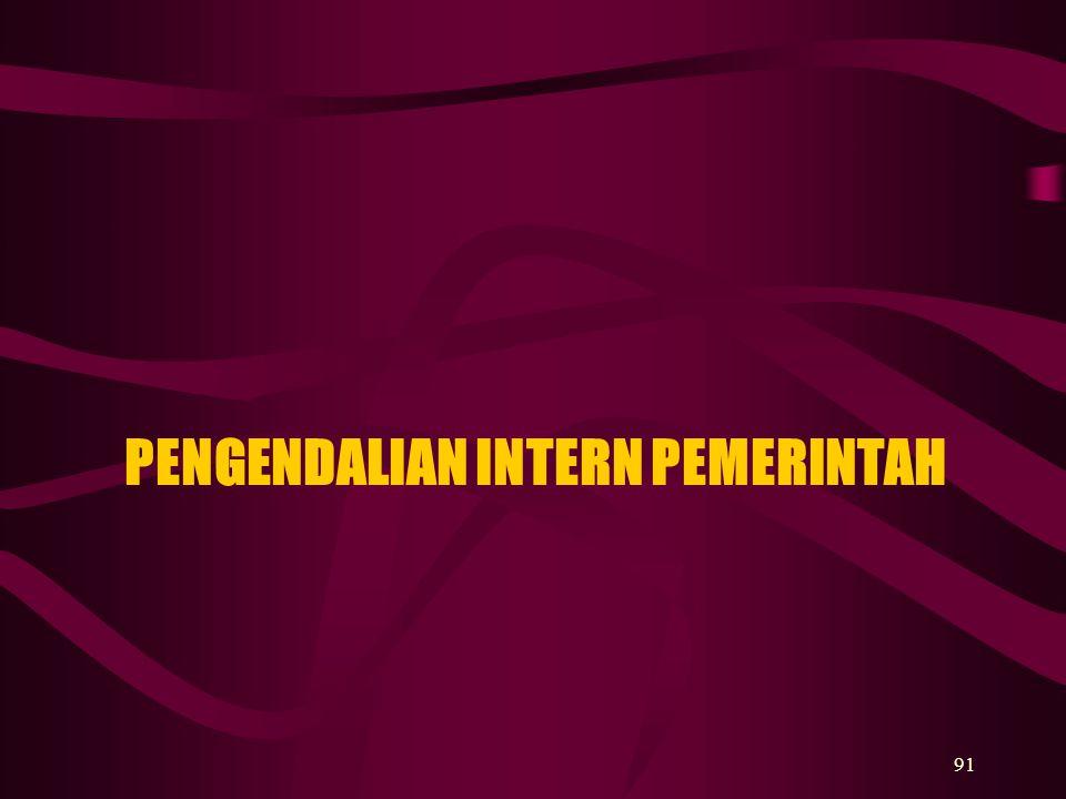 PENGENDALIAN INTERN PEMERINTAH