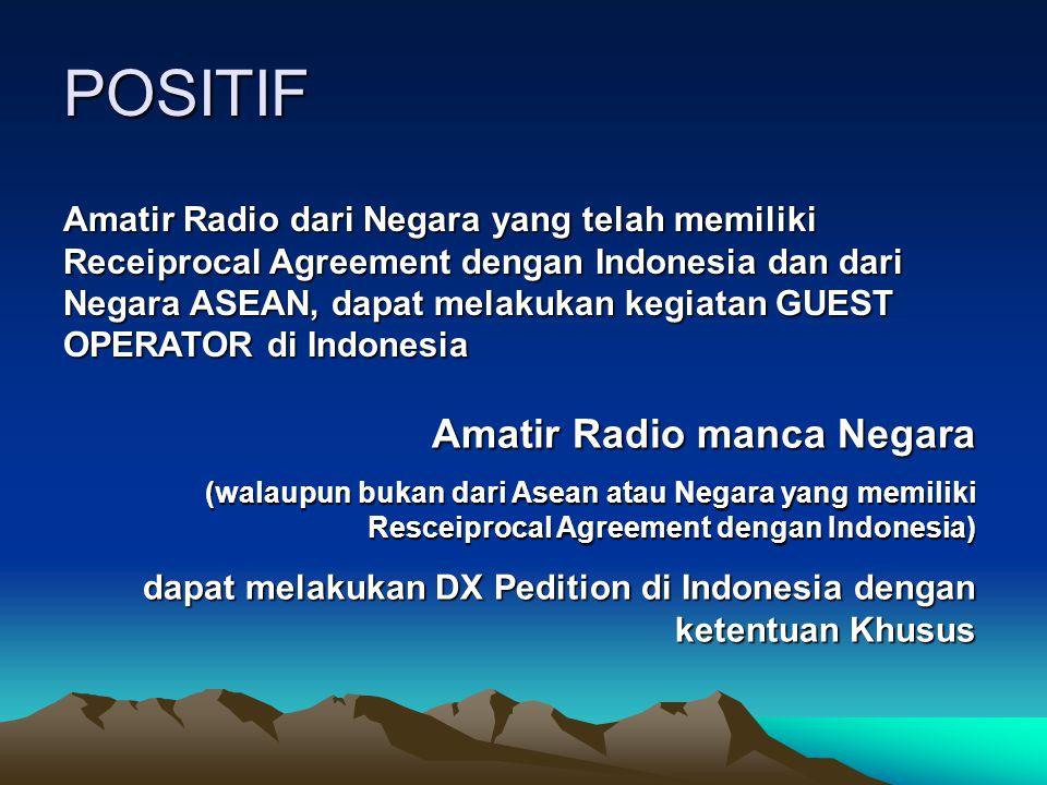 POSITIF Amatir Radio manca Negara