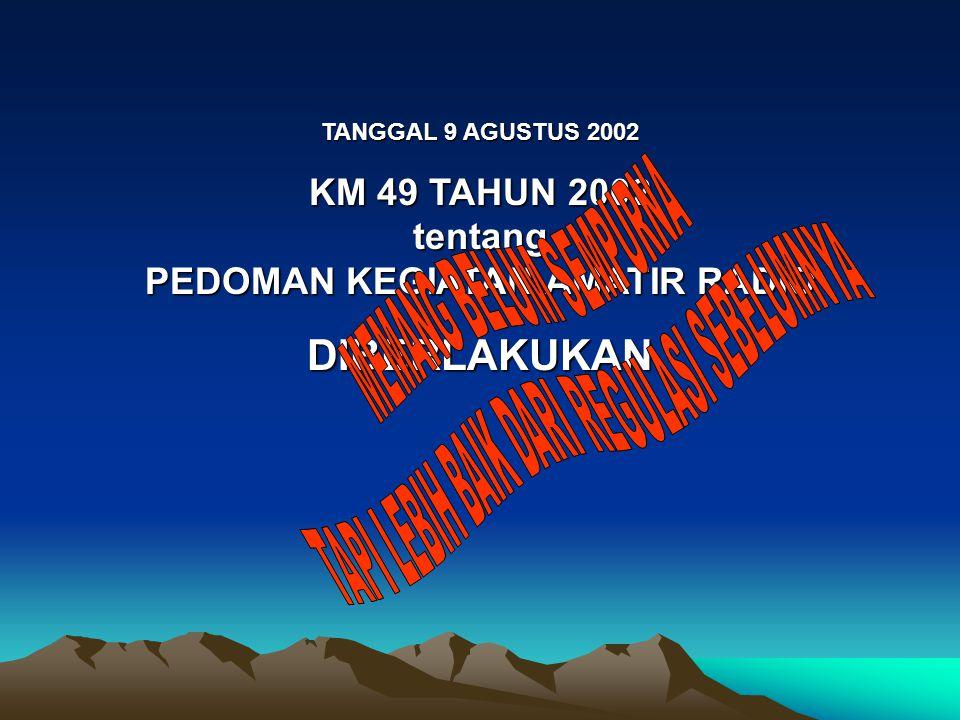 KM 49 TAHUN 2002 tentang PEDOMAN KEGIATAN AMATIR RADIO