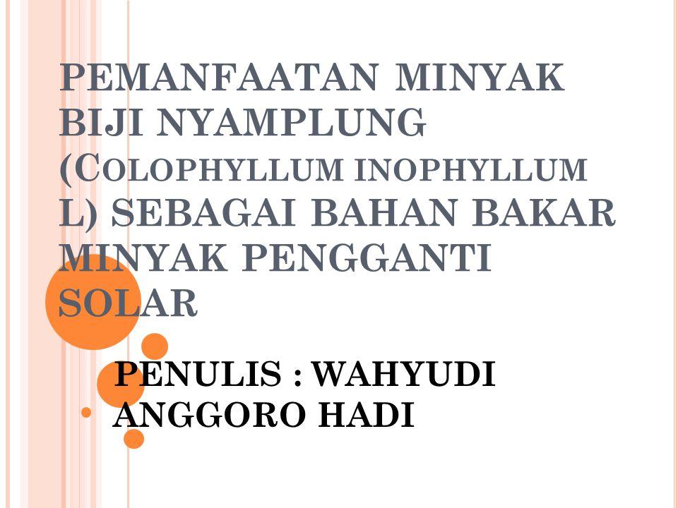 PENULIS : WAHYUDI ANGGORO HADI