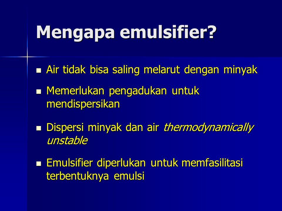 Mengapa emulsifier Air tidak bisa saling melarut dengan minyak