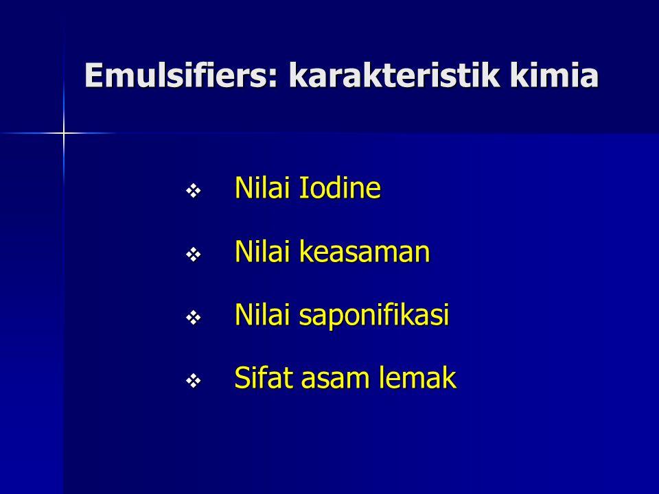 Emulsifiers: karakteristik kimia
