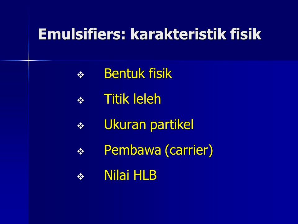 Emulsifiers: karakteristik fisik