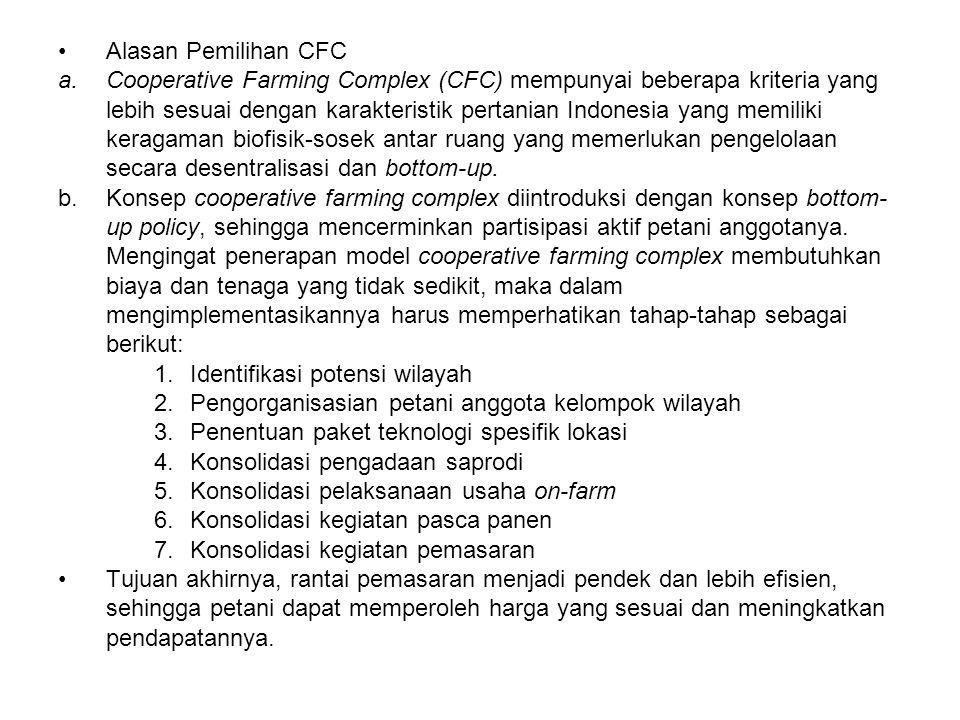 Alasan Pemilihan CFC